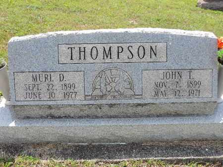 THOMPSON, JOHN T. - Pike County, Ohio | JOHN T. THOMPSON - Ohio Gravestone Photos