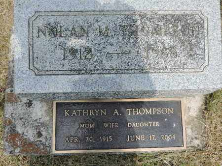 THOMPSON, KATHRYN A. - Pike County, Ohio | KATHRYN A. THOMPSON - Ohio Gravestone Photos