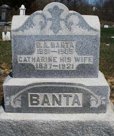 BANTA, B.A. - Preble County, Ohio | B.A. BANTA - Ohio Gravestone Photos