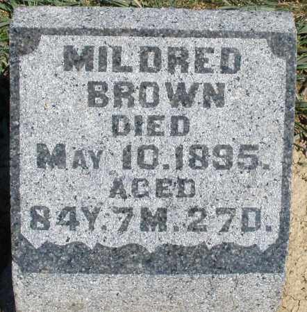 BROWN, MILDRED - Preble County, Ohio   MILDRED BROWN - Ohio Gravestone Photos