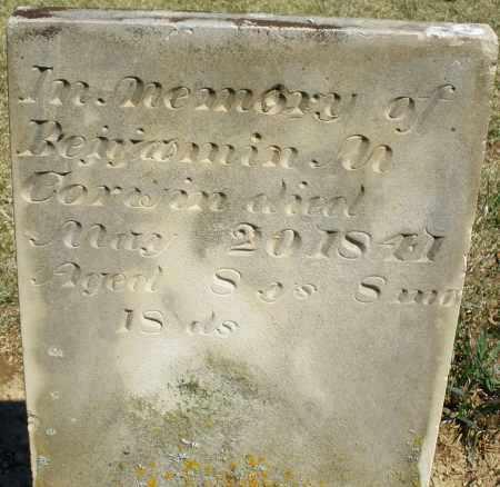 CORWIN, BENJAMIN M. - Preble County, Ohio   BENJAMIN M. CORWIN - Ohio Gravestone Photos
