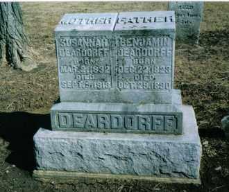 DEARDORFF, BENJAMIN - Preble County, Ohio | BENJAMIN DEARDORFF - Ohio Gravestone Photos