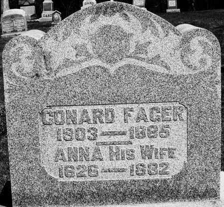 FAGER, CONRAD - Preble County, Ohio | CONRAD FAGER - Ohio Gravestone Photos