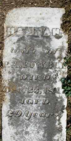 FOWBLE, HANNAH - Preble County, Ohio   HANNAH FOWBLE - Ohio Gravestone Photos