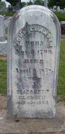 GLANDER, ELIZABETH - Preble County, Ohio | ELIZABETH GLANDER - Ohio Gravestone Photos