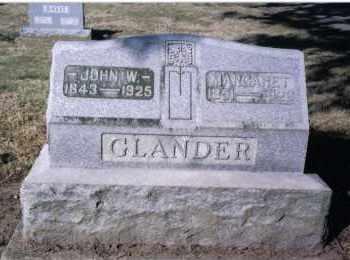 GLANDER, MARGARET - Preble County, Ohio   MARGARET GLANDER - Ohio Gravestone Photos