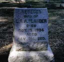 GLANDER, REBECCA - Preble County, Ohio | REBECCA GLANDER - Ohio Gravestone Photos