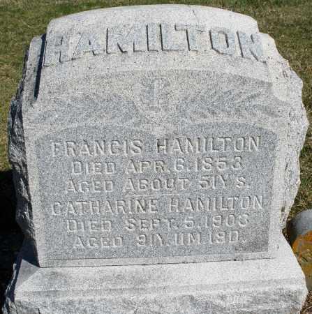HAMILTON, FRANCIS - Preble County, Ohio | FRANCIS HAMILTON - Ohio Gravestone Photos