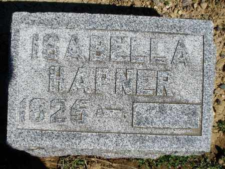HAPNER, ISABELLA - Preble County, Ohio   ISABELLA HAPNER - Ohio Gravestone Photos