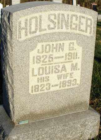 HOLSINGER, LOUISA M. - Preble County, Ohio   LOUISA M. HOLSINGER - Ohio Gravestone Photos