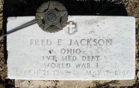 JACKSON, FRED E. - Preble County, Ohio | FRED E. JACKSON - Ohio Gravestone Photos