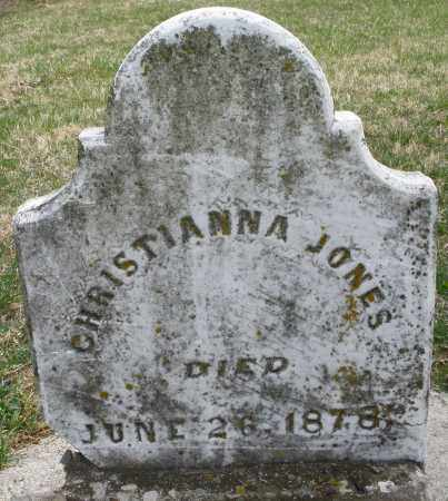 JONES, CHRISTIANNA - Preble County, Ohio   CHRISTIANNA JONES - Ohio Gravestone Photos