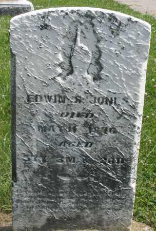 JONES, EDWIN - Preble County, Ohio | EDWIN JONES - Ohio Gravestone Photos