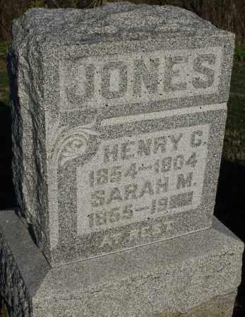 JONES, SARAH M. - Preble County, Ohio | SARAH M. JONES - Ohio Gravestone Photos