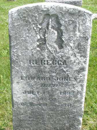 JONES, REBECCA - Preble County, Ohio   REBECCA JONES - Ohio Gravestone Photos