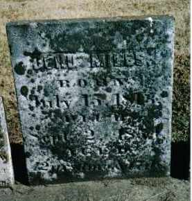 MILES, JEHU - Preble County, Ohio | JEHU MILES - Ohio Gravestone Photos