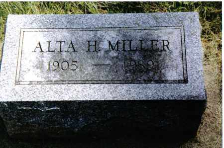 MILLER, ALTA H. - Preble County, Ohio   ALTA H. MILLER - Ohio Gravestone Photos