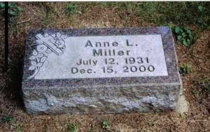 MILLER, ANNE L. - Preble County, Ohio | ANNE L. MILLER - Ohio Gravestone Photos