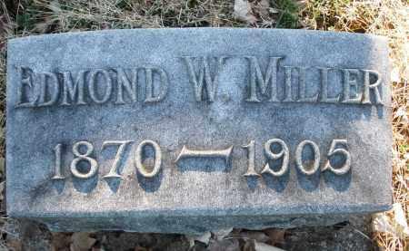 MILLER, EDMOND W. - Preble County, Ohio   EDMOND W. MILLER - Ohio Gravestone Photos