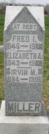 MILLER, ELIZABETH A. - Preble County, Ohio | ELIZABETH A. MILLER - Ohio Gravestone Photos
