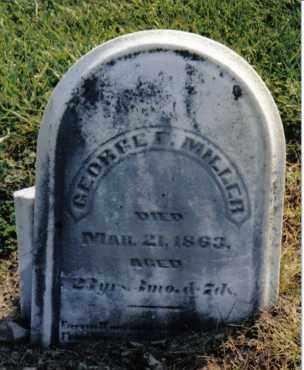 MILLER, GEORGE F. - Preble County, Ohio | GEORGE F. MILLER - Ohio Gravestone Photos