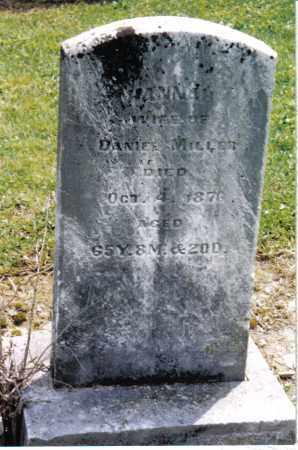 MILLER, HANNAH - Preble County, Ohio   HANNAH MILLER - Ohio Gravestone Photos