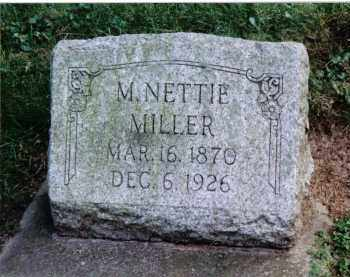 MILLER, M. NETTIE - Preble County, Ohio   M. NETTIE MILLER - Ohio Gravestone Photos