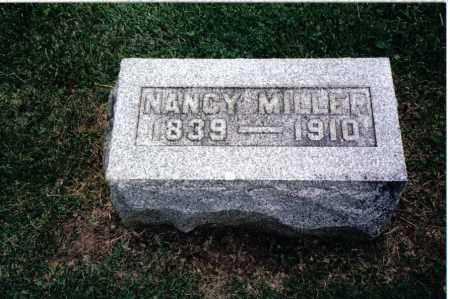 MILLER, NANCY - Preble County, Ohio   NANCY MILLER - Ohio Gravestone Photos