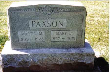 PAXSON, MARY J. - Preble County, Ohio | MARY J. PAXSON - Ohio Gravestone Photos