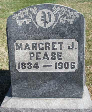 PEASE, MARGRET J. - Preble County, Ohio   MARGRET J. PEASE - Ohio Gravestone Photos