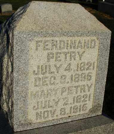 PETRY, MARY - Preble County, Ohio   MARY PETRY - Ohio Gravestone Photos