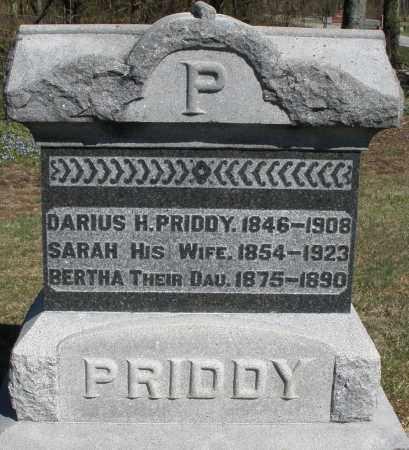 PRIDDY, DARIUS H. - Preble County, Ohio   DARIUS H. PRIDDY - Ohio Gravestone Photos