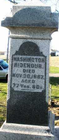 RIDENOUR, WASHINGTON - Preble County, Ohio   WASHINGTON RIDENOUR - Ohio Gravestone Photos