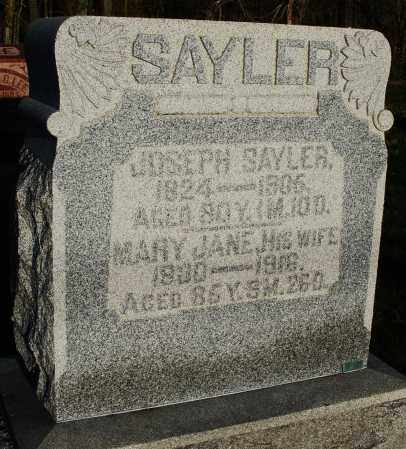 SAYLER, MARY JANE - Preble County, Ohio | MARY JANE SAYLER - Ohio Gravestone Photos