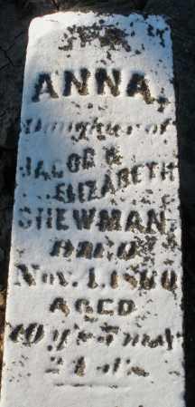 SHEWMAN, ANNA - Preble County, Ohio   ANNA SHEWMAN - Ohio Gravestone Photos