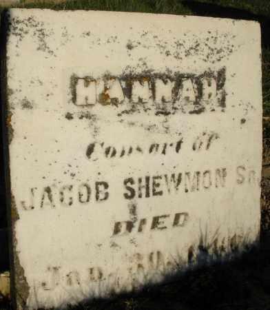 SHEWMON, HANNAH - Preble County, Ohio   HANNAH SHEWMON - Ohio Gravestone Photos