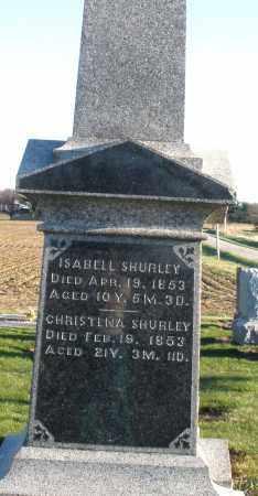 SHURLEY, ISABELL - Preble County, Ohio | ISABELL SHURLEY - Ohio Gravestone Photos