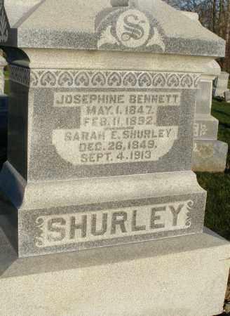 SHURLEY, JOSEPHINE - Preble County, Ohio | JOSEPHINE SHURLEY - Ohio Gravestone Photos