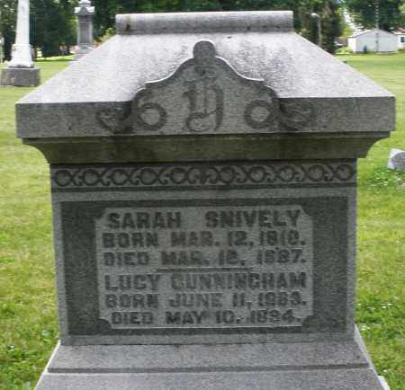 CUNNINGHAM, LUCY - Preble County, Ohio   LUCY CUNNINGHAM - Ohio Gravestone Photos