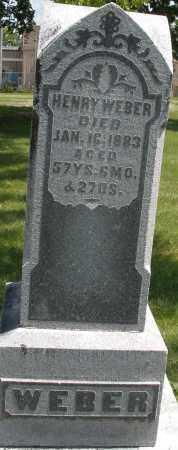 WEBER, HENRY - Preble County, Ohio | HENRY WEBER - Ohio Gravestone Photos