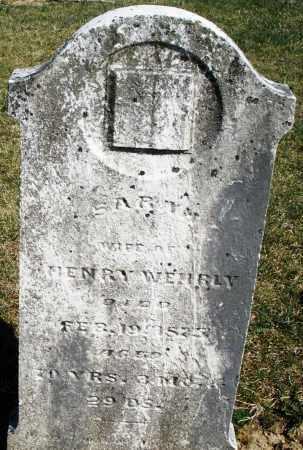 WEHRLY, SARAH - Preble County, Ohio   SARAH WEHRLY - Ohio Gravestone Photos