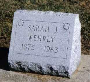 WEHRLY, SARAH J. - Preble County, Ohio | SARAH J. WEHRLY - Ohio Gravestone Photos