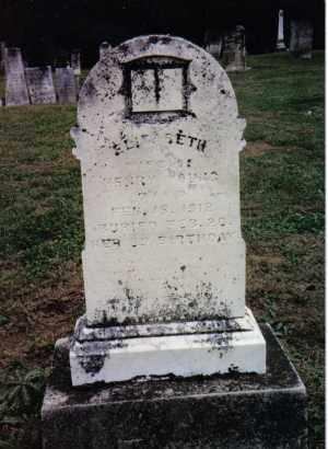 YOUNG, ELIZABETH - Preble County, Ohio | ELIZABETH YOUNG - Ohio Gravestone Photos