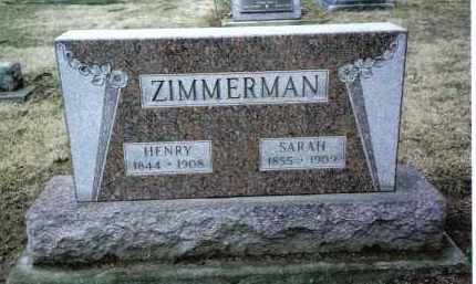 ZIMMERMAN, SARAH - Preble County, Ohio   SARAH ZIMMERMAN - Ohio Gravestone Photos