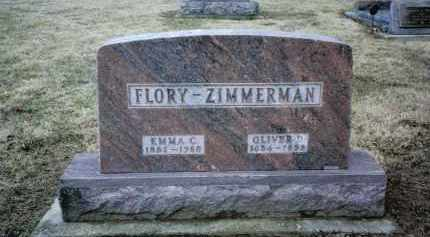 FLORY ZIMMERMAN, EMMA C. - Preble County, Ohio | EMMA C. FLORY ZIMMERMAN - Ohio Gravestone Photos