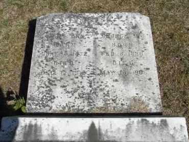 MANVILLE, MARY ANN - Putnam County, Ohio | MARY ANN MANVILLE - Ohio Gravestone Photos