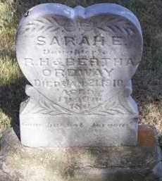 ORDWAY, SARAH E. - Putnam County, Ohio | SARAH E. ORDWAY - Ohio Gravestone Photos