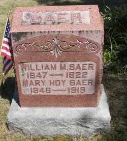 SAER, WILLIAM - Putnam County, Ohio | WILLIAM SAER - Ohio Gravestone Photos