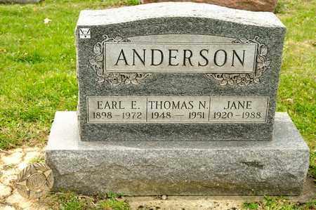 ANDERSON, JANE - Richland County, Ohio | JANE ANDERSON - Ohio Gravestone Photos
