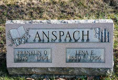ANSPACH, FRANKLIN O - Richland County, Ohio | FRANKLIN O ANSPACH - Ohio Gravestone Photos